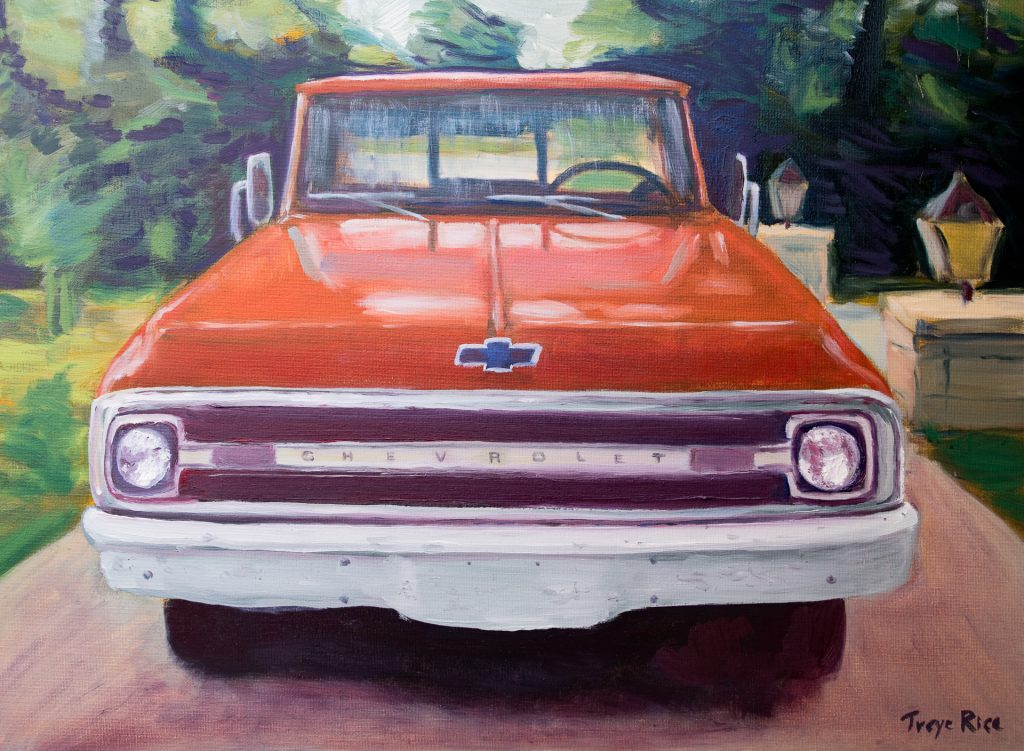 1970 Chevrolet C10 truck painting