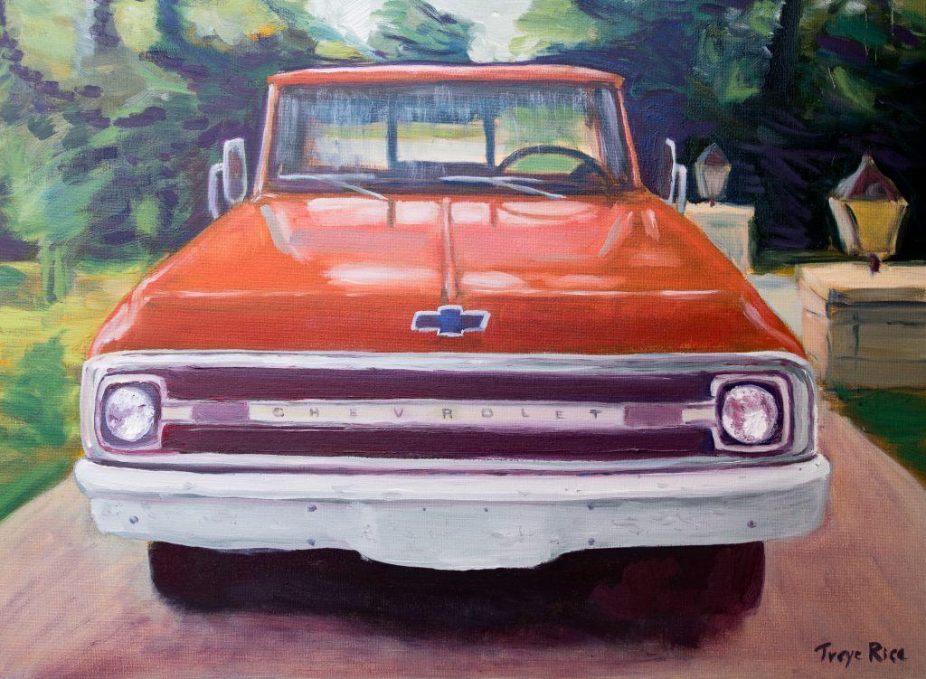 1970 Chevrolet C10 truck painting