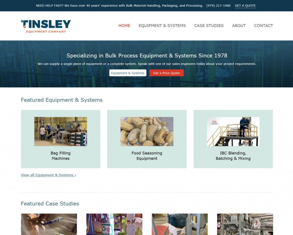 tinsley equipment company college station texas